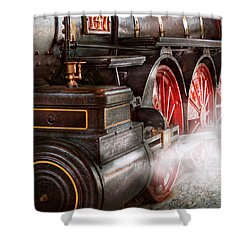 Train - Let Off Some Steam  Shower Curtain by Mike Savad