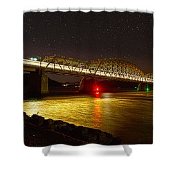 Train Lights In The Night Shower Curtain