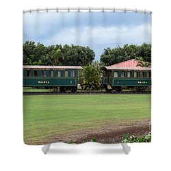 Shower Curtain featuring the photograph Train Lovers by Suzanne Luft