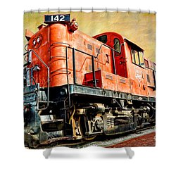 Train - Mkt 142 - Rs3m Emd Repowered Alco Shower Curtain