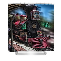 Train Ride Magic Kingdom Shower Curtain