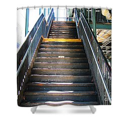 Train Staircase Shower Curtain