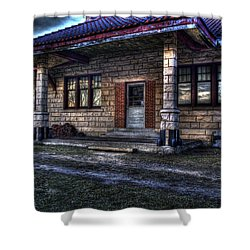Train Stop Shower Curtain