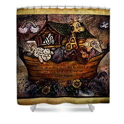 Train Up A Child Shower Curtain by La Rae  Roberts