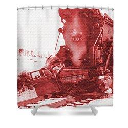 Train V Car Shower Curtain