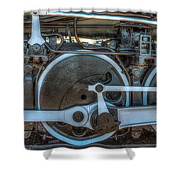 Train Wheels Shower Curtain by Paul Freidlund