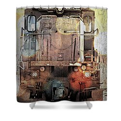 Trains At Rest Shower Curtain