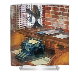 Trains - Station Master's Office Shower Curtain by Susan Savad