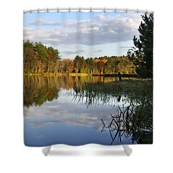 Tranquil Autumn Landscape Shower Curtain by Christina Rollo