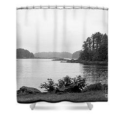 Shower Curtain featuring the photograph Tranquil Harbor by Victoria Harrington