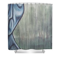 Tranquil Rain Shower Curtain by Michael  TMAD Finney