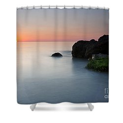Tranquil Sunset Shower Curtain by Mike  Dawson