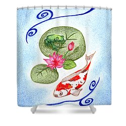 Tranquility Shower Curtain by Keiko Katsuta