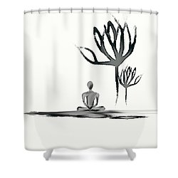Tranquility Shower Curtain by Len YewHeng