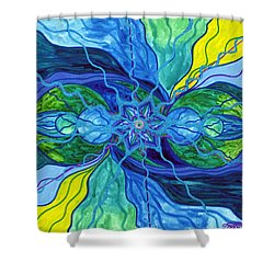 Tranquility Shower Curtain by Teal Eye  Print Store