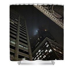 Transamerica Fog Shower Curtain by Donna Blackhall