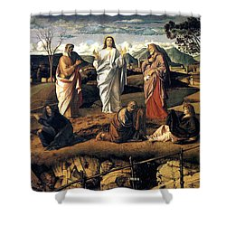 Transfiguration Of Christ 1487 Giovanni Bellini Shower Curtain by Karon Melillo DeVega