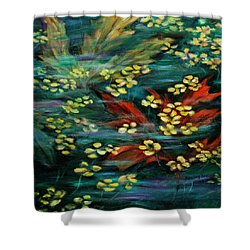 Shower Curtain featuring the painting Transforming... by Xueling Zou