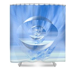 Transparency. Unique Art Collection Shower Curtain