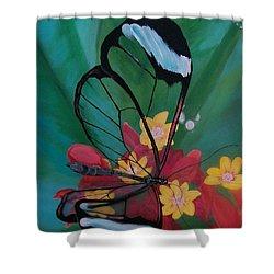 Transparent Elegance Shower Curtain