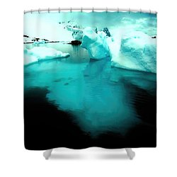 Shower Curtain featuring the photograph Transparent Iceberg by Amanda Stadther