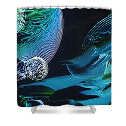 Transparent Planet Shower Curtain by Michael Kegg