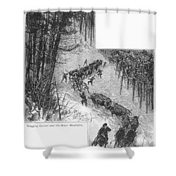 Transport Of Cannon, 1776 Shower Curtain by Granger