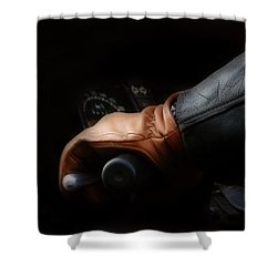 Leather Goes For A Ride Shower Curtain