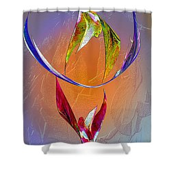 Trapeze Angels Shower Curtain by Michele Avanti