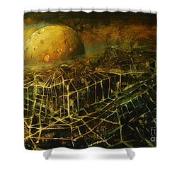 Trapped By The Moon Shower Curtain by Michal Kwarciak
