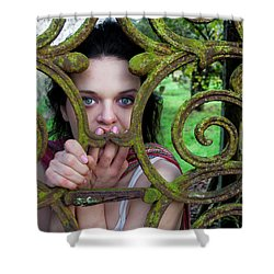 Trapped Shower Curtain by Semmick Photo