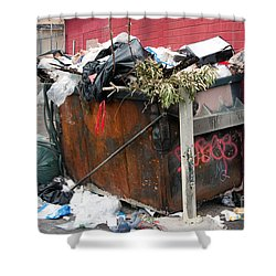 Shower Curtain featuring the photograph Trash Dumpster In Slums by Gunter Nezhoda