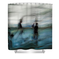 Shower Curtain featuring the photograph Travel Blues by Alex Lapidus