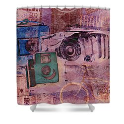Travel Log Shower Curtain
