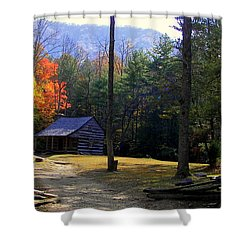 Traveling Back In Time Shower Curtain by Karen Wiles