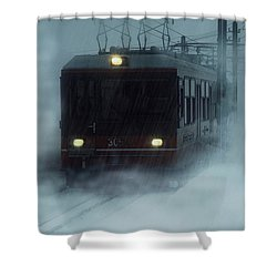 Traveling In The Snow... Shower Curtain