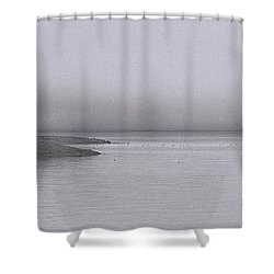 Shower Curtain featuring the photograph Trawler In Fog by Marty Saccone
