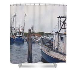 Trawlers At Gosman's Dock Montauk Shower Curtain