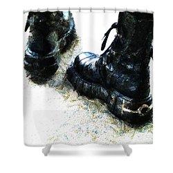 Tread Carefully  Shower Curtain by Steve Taylor