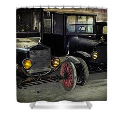 Treads Of Time Shower Curtain by Karen Wiles