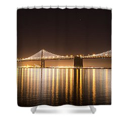 Treasure Island Bay Lights Shower Curtain