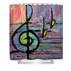 Treble Clef Shower Curtain