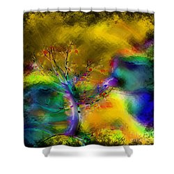 Tree Abstract - Bold Is Beautiful Shower Curtain by Liane Wright