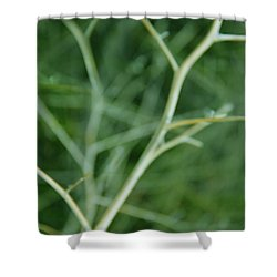 Tree Branches Abstract Green Shower Curtain by Jennie Marie Schell