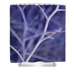 Tree Branches Abstract Lavender Shower Curtain by Jennie Marie Schell