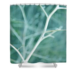 Tree Branches Abstract Turquoise Shower Curtain by Jennie Marie Schell