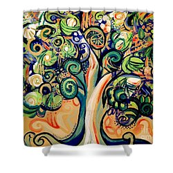 Tree Candy 2 Shower Curtain by Genevieve Esson