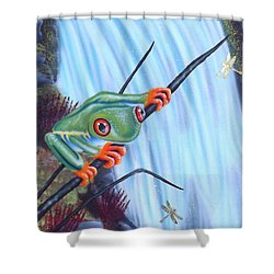 Tree Frog Shower Curtain by Darren Robinson