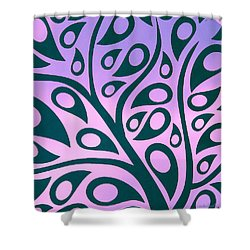Tree Glee Shower Curtain by Kathy Bassett