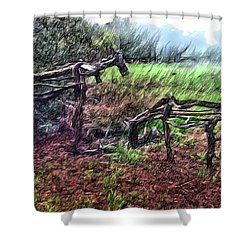 Tree Horse Shower Curtain